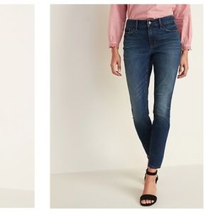 Old Navy Mid-Rise Dark-Wash Pop Icon Skinny Jeans